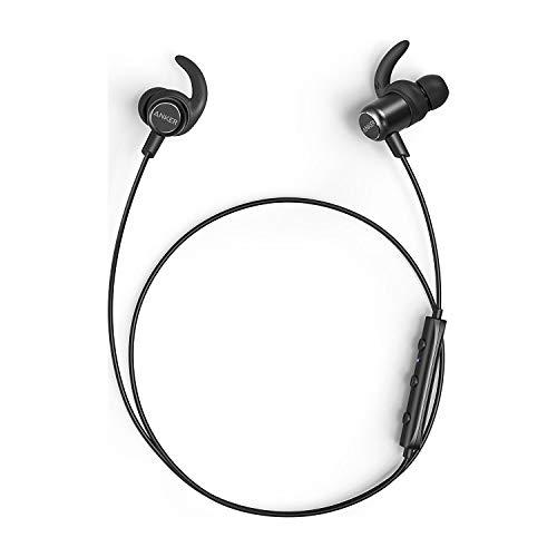 Anker SoundBuds Slim+ Bluetooth In Ear Kopfhörer Leichte Stereo Kopfhörer mit aptX High Resolution Sound, IPX5 Wasserfeste Sportkopfhörer