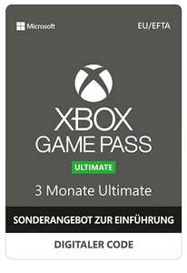 Xbox Game Pass Ultimate f. 3 Monate Einführungsangebot (Game Pass + Gold + PC Pass)