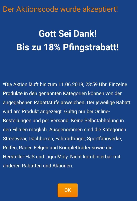 kfzteile24: Bis zu 18% Rabatt