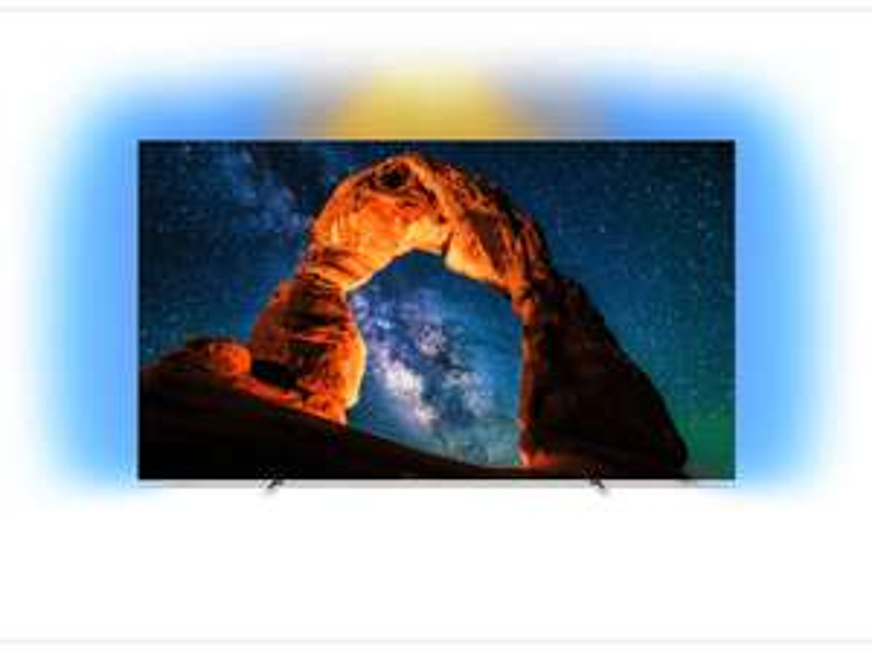 """Philips 55OLED803 55"""" OLED TV mit dreiseitigem Ambilight (4K UHD, 120Hz, Android TV, HDR10, HDR10+, HLG"""