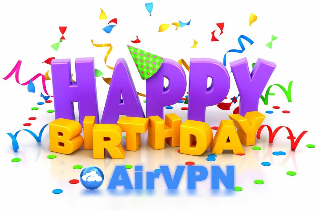 AirVPN Geburtstagspreise