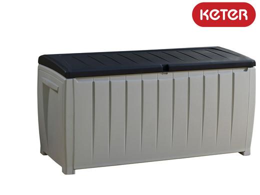 Keter Novel Lagerbox mit Sitzfunktion (340L, 125 x 55 x 61 cm) [iBOOD]