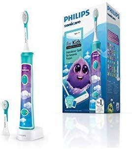 Philips Sonicare For Kids Elektrische Zahnbürste HX6322/04, mit Schalltechnologie, für Kinder, sanfte Reinigung, türkis [Amazon]