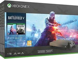 Microsoft Xbox One X, schwarz - Battlefield V Gold Rush Special Edition Bundle [Amazon]
