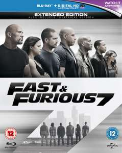 Blu-ray Filme für je 3,36€ inkl. Versand - z.B. Fast and Furious 7 - Extended Edition (Blu-ray) (Zoom)