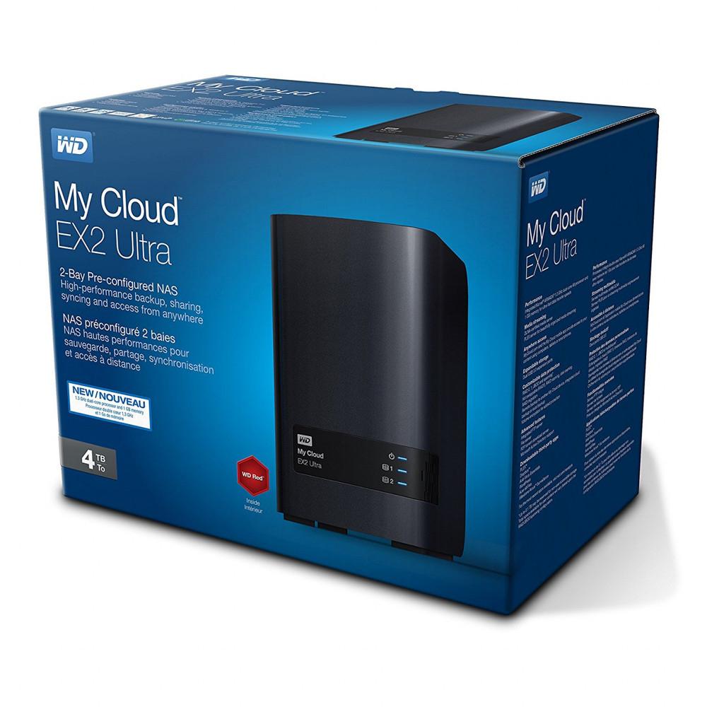 Western Digital My Cloud EX2 Ultra 4TB 2-Bay NAS schwarz, Kostenloser Versand