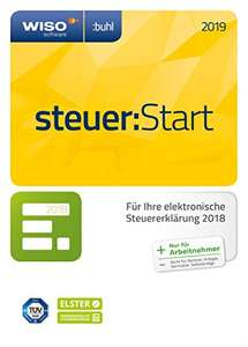WISO steuer:Start 2019 für 10,49€, WISO steuer:Sparbuch für 19,99€ o. Tax 2019 für 10,49€ (Aktivierungscode per Email) [Sammeldeal] (Amazon)