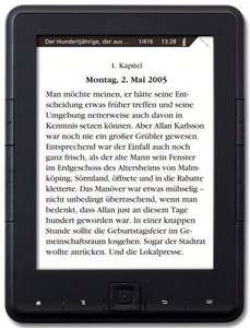 Günstiger eBook-Reader mit E-Ink Display [buecher.de]