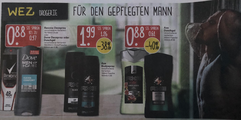 [lokal Raum Minden] Axe Duschgel für 0.88€ und weitere Axe Produkte im Angebot