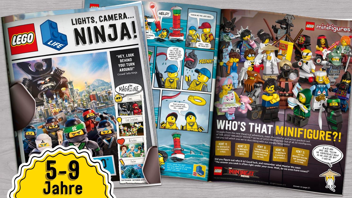 Lego Life Magazin Print Ausgabe 4x im Jahr kostenlos. Für Kinder von 5-9 Jahre