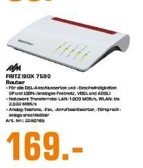 [Regional Saturn Essen] AVM FRITZ!BOX 7590 DSL-Router High-Speed-WLAN mit Multi-User MIMO (Grau, Rot) für 169,-€