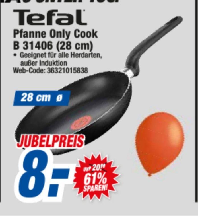 Tefal Bratpfanne Only Cook 28 cm [Lokal Backnang]