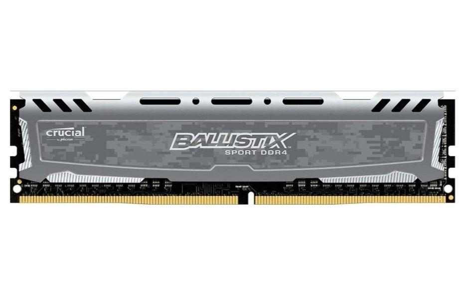 [Amazon Prime] Crucial Ballistix Sport LT 4GB DDR4-2400 CL16 DIMM RAM, Single Rank, Headspreader, XMP 2.0 (BLS4G4D240FSB)