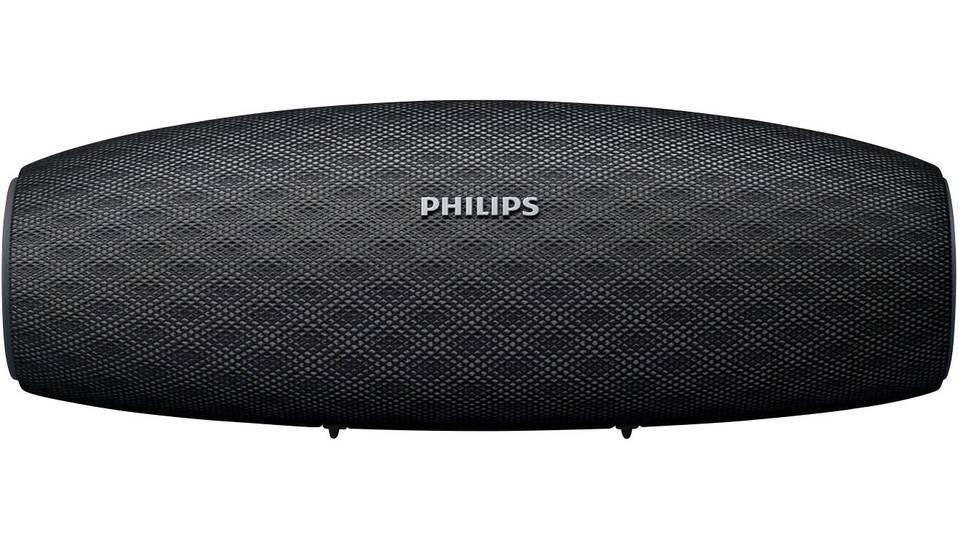 Bluetooth-Lautsprecher Philips BT7900 schwarz (14W, ~10h Akkulaufzeit, AUX-In, Mikrofon, staubfest und spritzwassergeschützt, 530g)