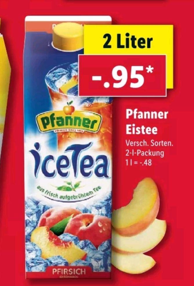 [LIDL] Ab 17.06 Pfanner Eistee 2L für 0.95€
