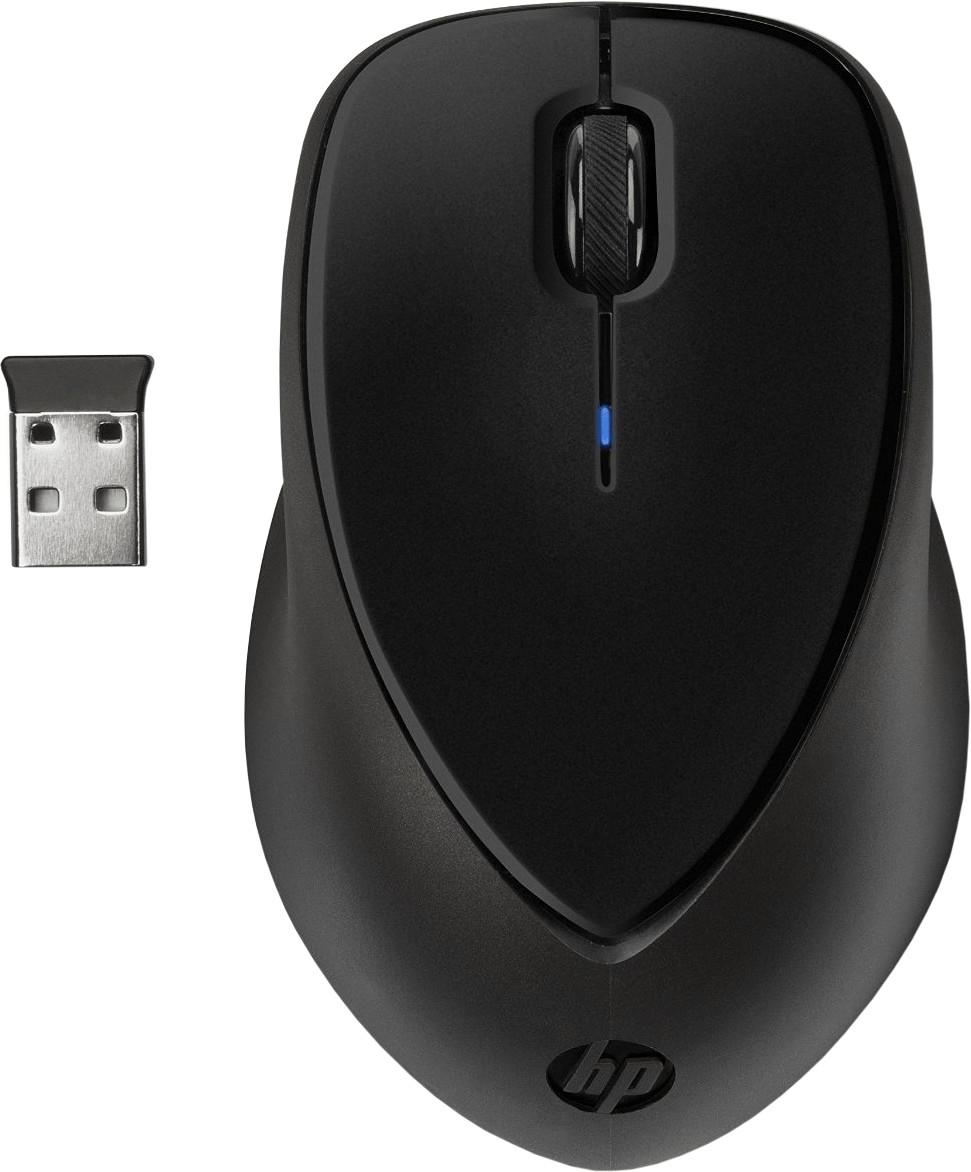 Kabellose Maus HP Comfort Grip (verstaubarer 2.4GHz Nano-Empfänger, 800 dpi, 3 Tasten inkl. 2-Wege-Scrollrad, 123g)