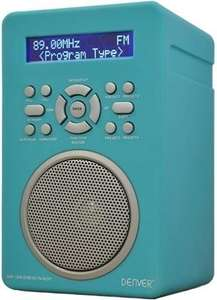 Digitalradio Denver DAB-43 Plus (DAB+, UKW, AUX-In/-Out, Batterie- oder Netzbetrieb, Weckfunktion, Display, 616g)