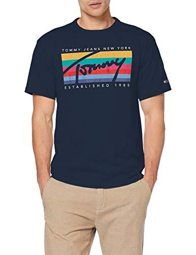 [Amazon] Tommy Jeans Rainbow Box Tee T-Shirt Gr. S-L