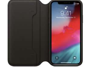 Apple Original iPhone XS Leder Folio, schwarz