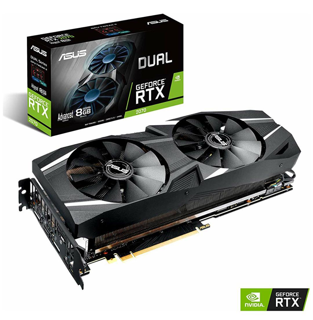 ASUS Dual GeForce RTX 2070 Advanced Edition 8GB GDDR6 Grafikkarte - 3x DisplayPort/1x HDMI/1x USB Type-C