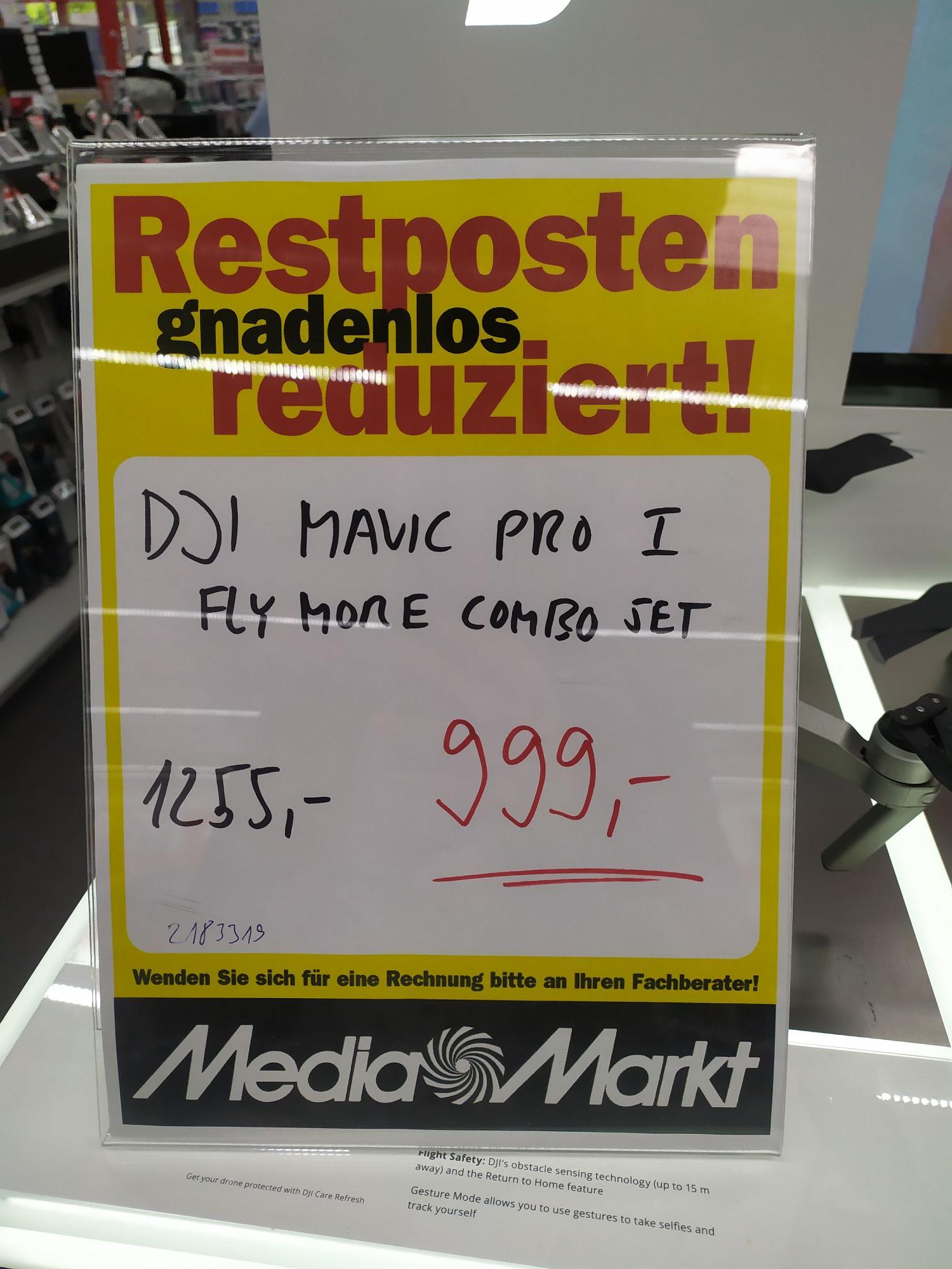 [lokal Mediamarkt Weinheim] DJI Mavic Pro - 1fly more Combo