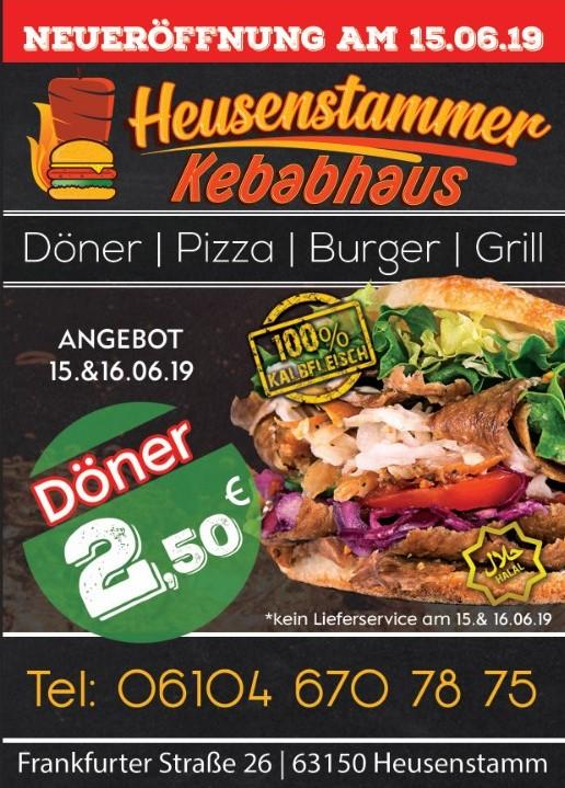 Döner für 2,50€ Neueröffnung Heusenstamm (Lokal)
