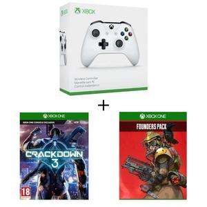 Xbox Wireless Controller weiß + Crackdown 3 + Apex Legends Founder's Pack für 54,98 € (Cdiscount)