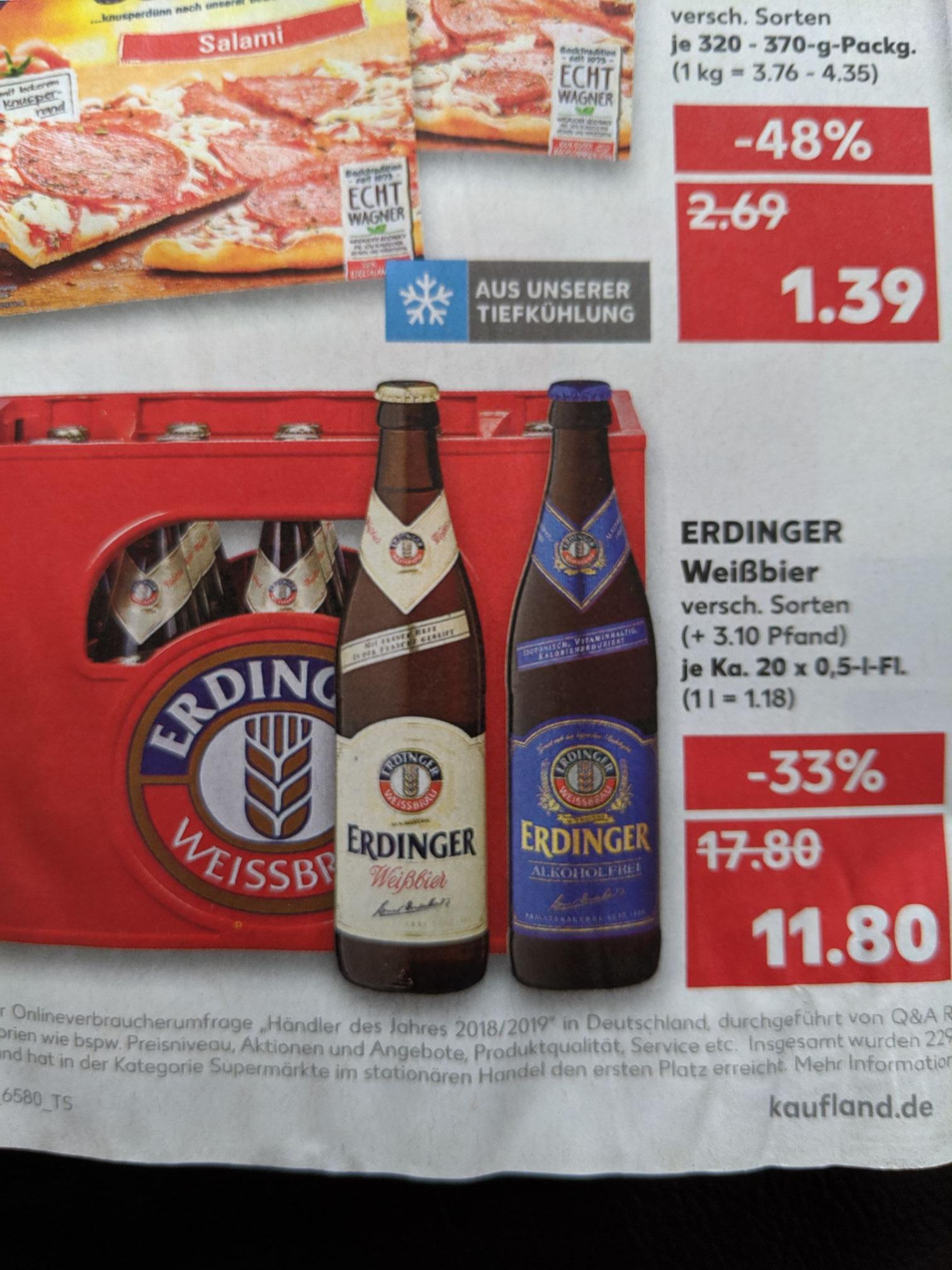 Kiste Erdinger Weißbier, 20x0.5 l