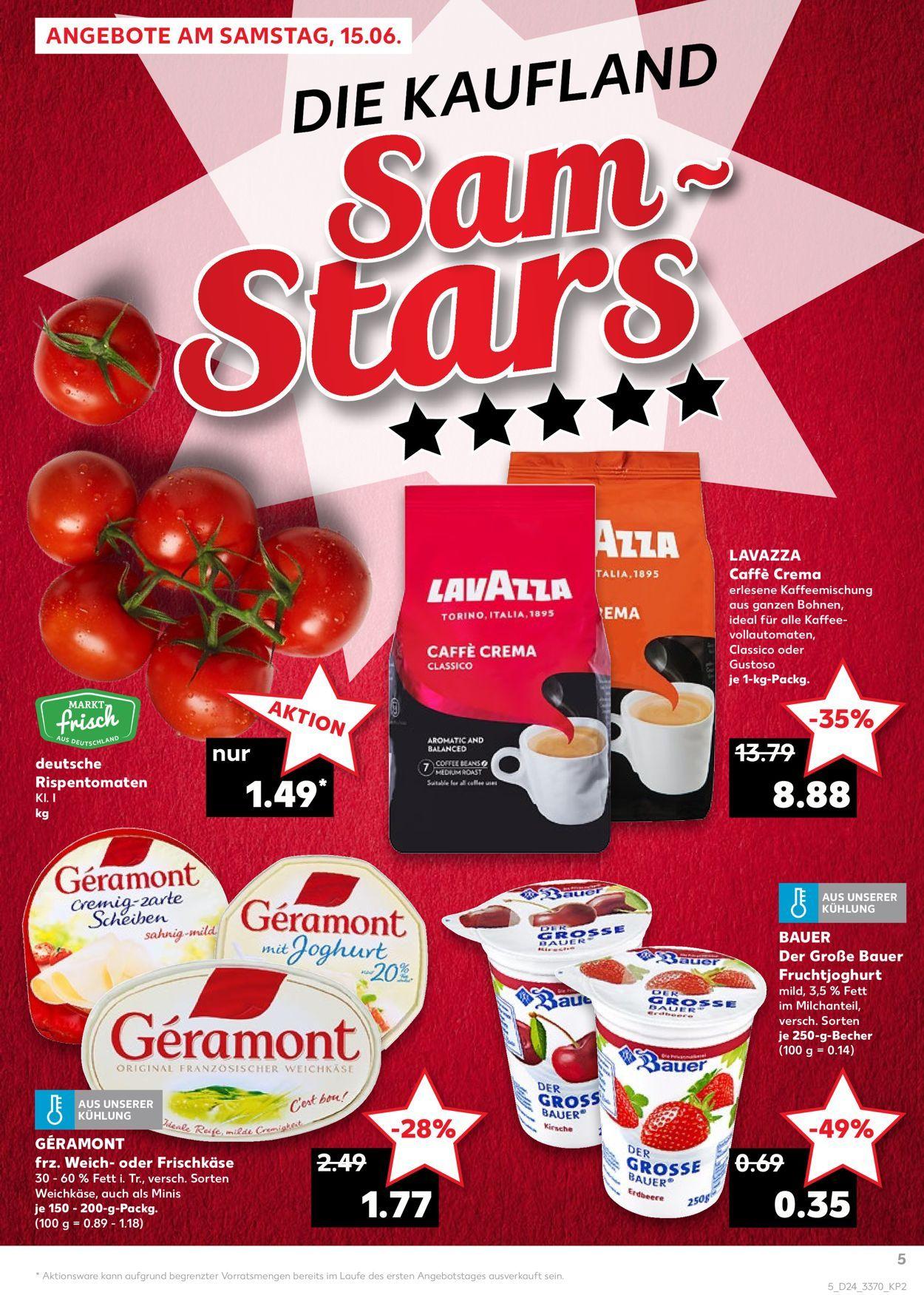 Lavazza Kaffee im Kaufland am 15.6 für 8.88€ & Original Wagner Steinofen-Pizza für 1.39€