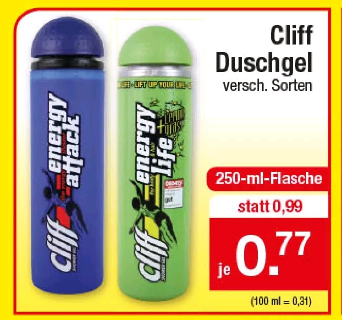[Zimmermann] Cliff Duschgel - versch. Sorten (11.-15.06.)