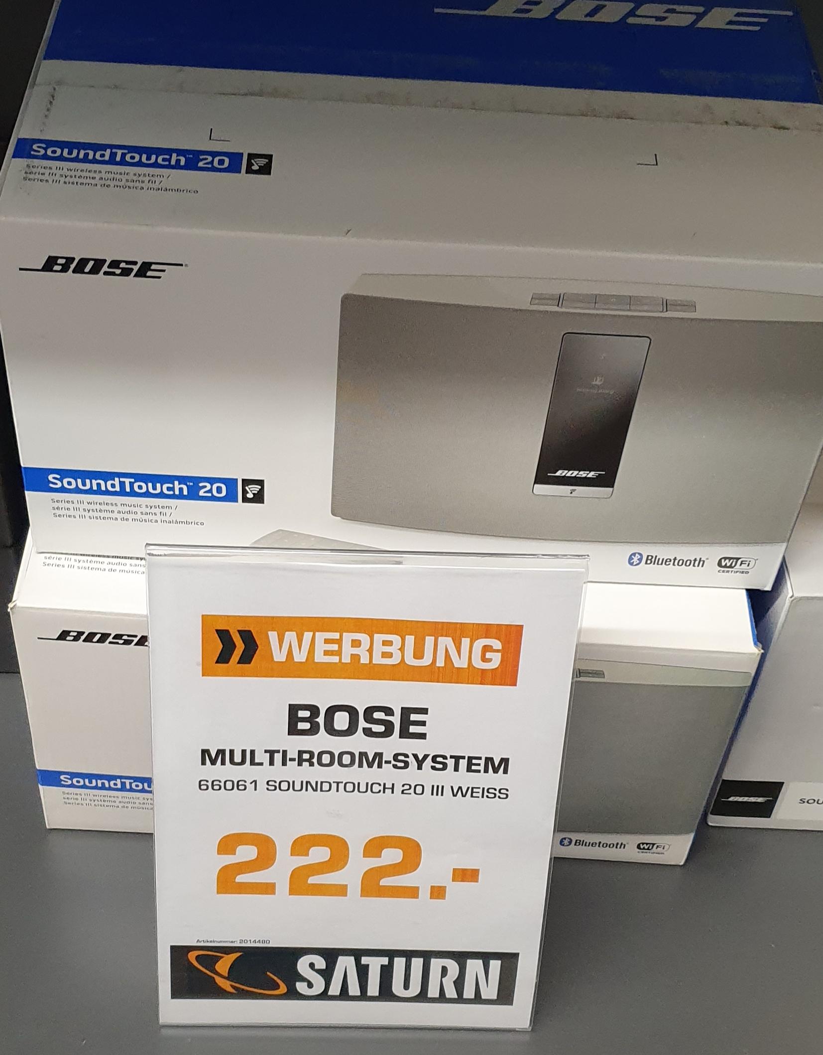 BOSE SoundTouch 20 Serie III Aktiver Multimedia-Lautsprecher weiß [Lokal Münster Saturn]