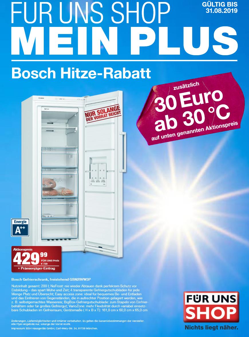 [Für Uns Shop lokal] Bosch Gefrierschrank GSN29VW3P