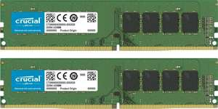 Crucial 16GB Kit (2x8GB) CT2K8G4DFS832A (CL22, Single Rank, DDR4-3200, DIMM, 288-Pin) 59,99€ [Amazon.de]