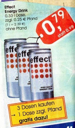 [LOKAL?/Minipreis-PB] Effect Energy  3+1 Dosen für 2,37€ zzgl. Pfand