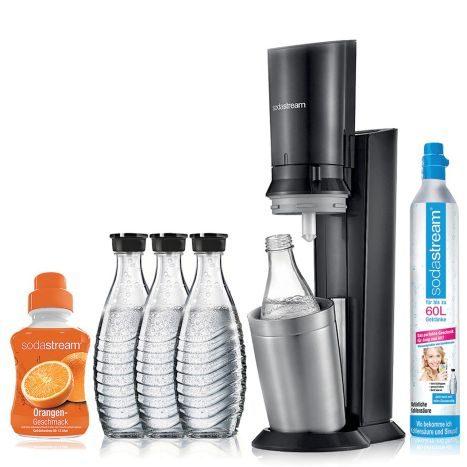Sodastream  Crystal 2.0 Promopack titan mit 3 Glaskaraffen + Sirup für 89,90€ [interspar.at]