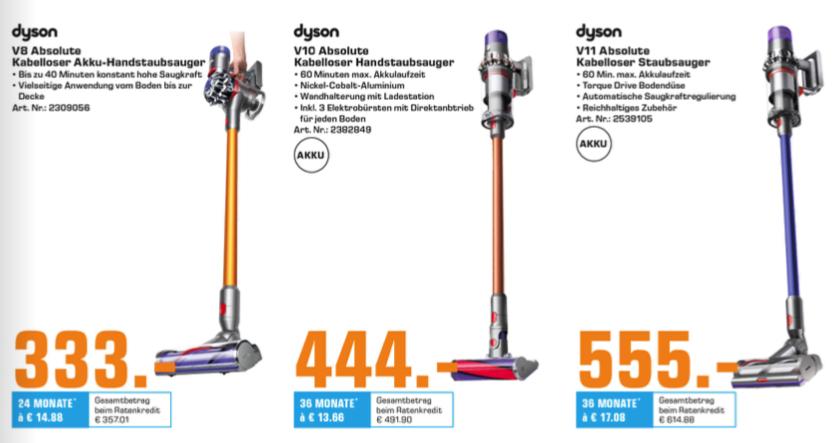 (Lokal - Bad Oeynhausen) - Saturn Dyson V8 / V10 / V11 Absolute