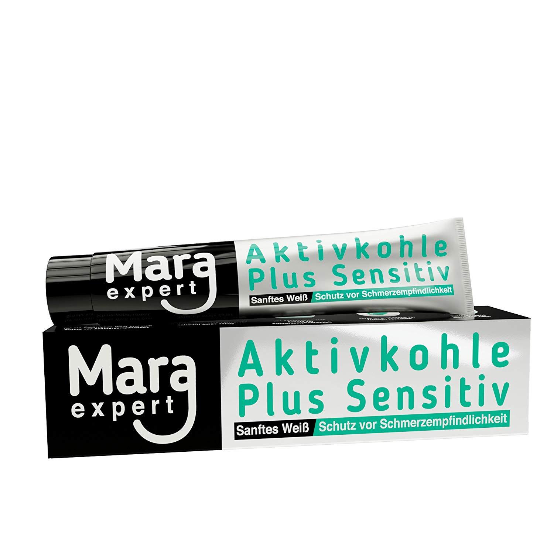 MARA EXPERT Zahnpasta Aktivkohle Plus, 75 ml