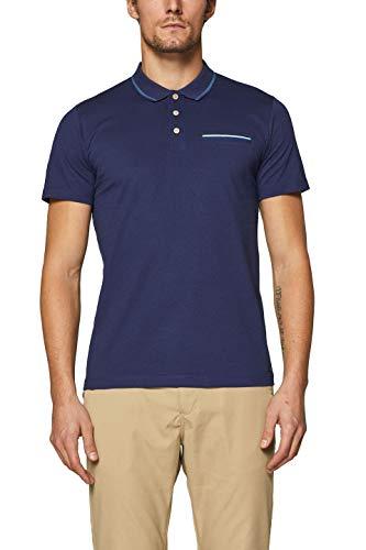 ESPRIT Herren Poloshirt Gr. M Blau (Navy 400)