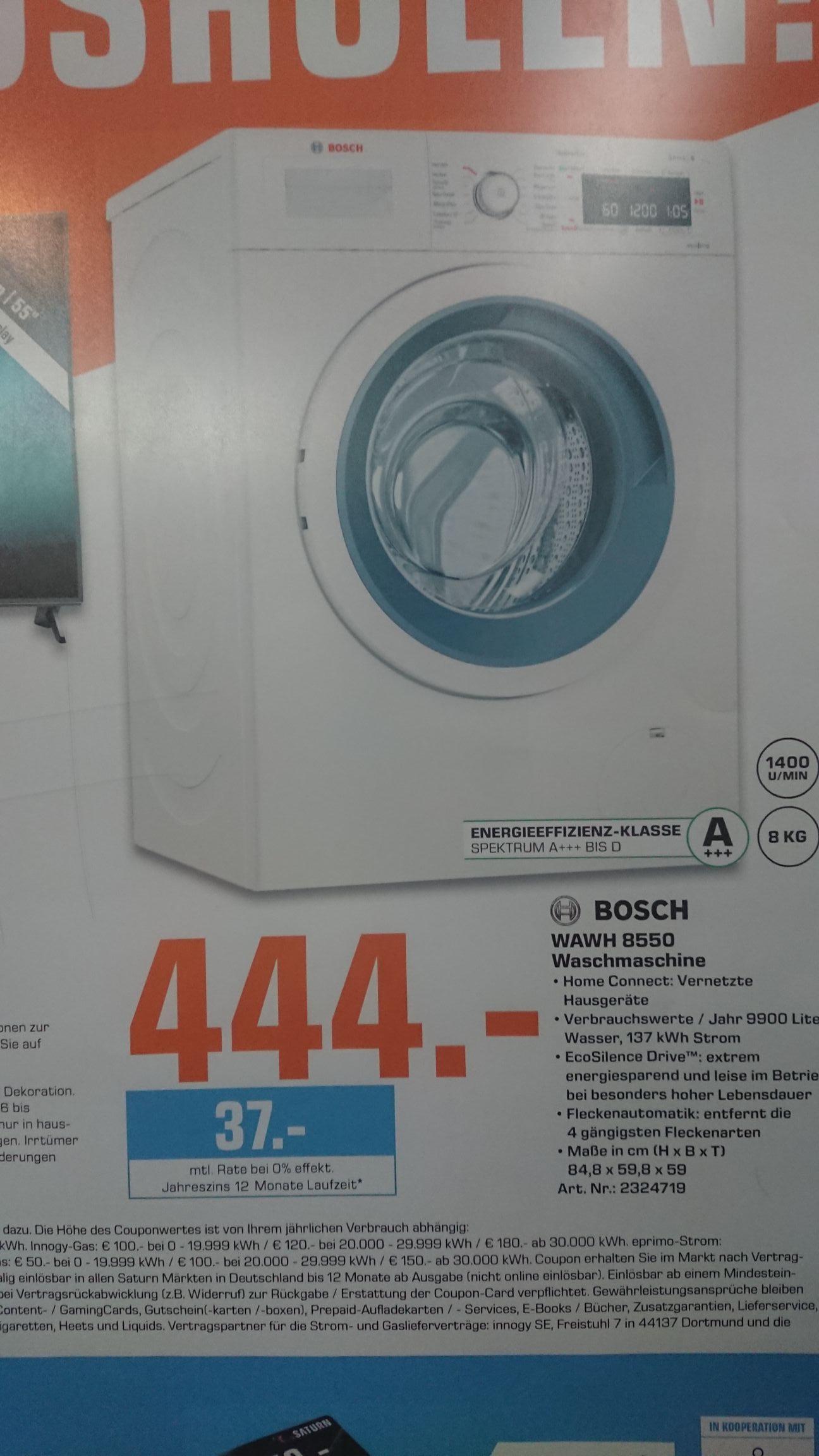 Lokal Nürnberg Bosch WAWH8550 Waschmaschine Serie 8