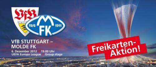 """(Lokal Plz.Gebiet 70-75) Freikartenaktion VfB Stuttgart- Molde FK für """"Helfer"""" (FW und KH)"""