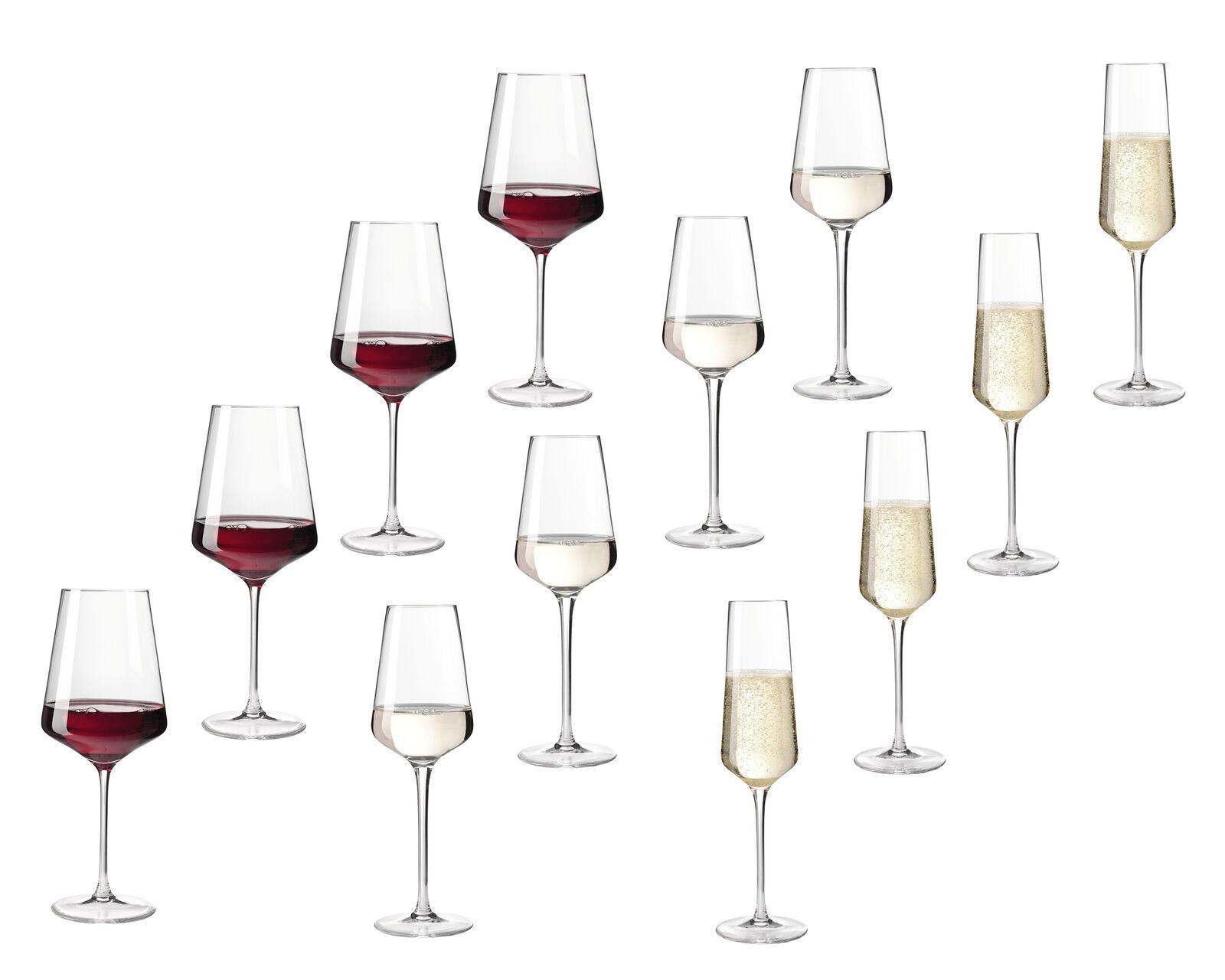 Leonardo Puccini, 12-teiliges Kelchglas-Set (4x Sektglas, 4x Weißweinglas, 4x Rotweinglas)