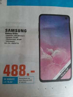 [Lokal Saturn Bad Oeynhausen/Herford] Samsung Galaxy S10e für 488€