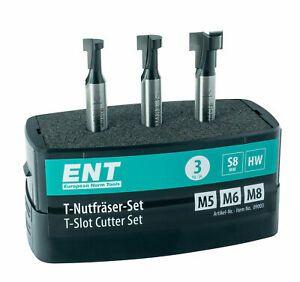ebay: ENT 09003 3-tlg. HW T-Nutfräser-Set für M5, M6 und M8 Sechskantschrauben