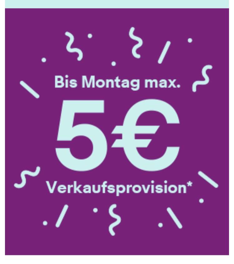 eBay Verkaufsaktion - Maximal 5€ Verkaufsprovision für 100 Angebote (14.06 - 17.06.19)