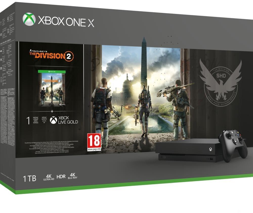Microsoft Xbox One X – The Division 2 Bundle für 341,10€ [Abholung Saturn]