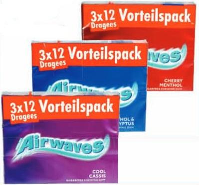 Vorteilspack 3x12 Airwaves in verschiedenen Sorten für 0,99€