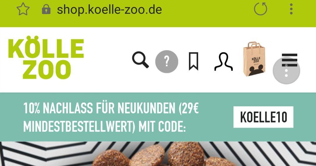 10% für Neukunden bei Kölle Zoo