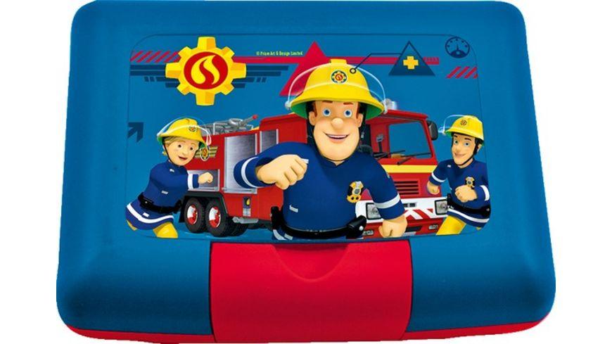 Feuerwehrmann Sam, Brotdose mit Einsatz Trenner für 4,99€ (Müller)