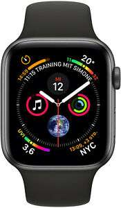 Apple Watch Series 4 GPS Cellular 44mm grau Alu Sport schwarz - NEU neutrale VP