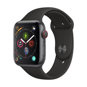 Apple Watch Series 4 GPS und Cellular, 44 mm, Alu, space grau, Sportarmband schwarz (Ebay - Cyberport)